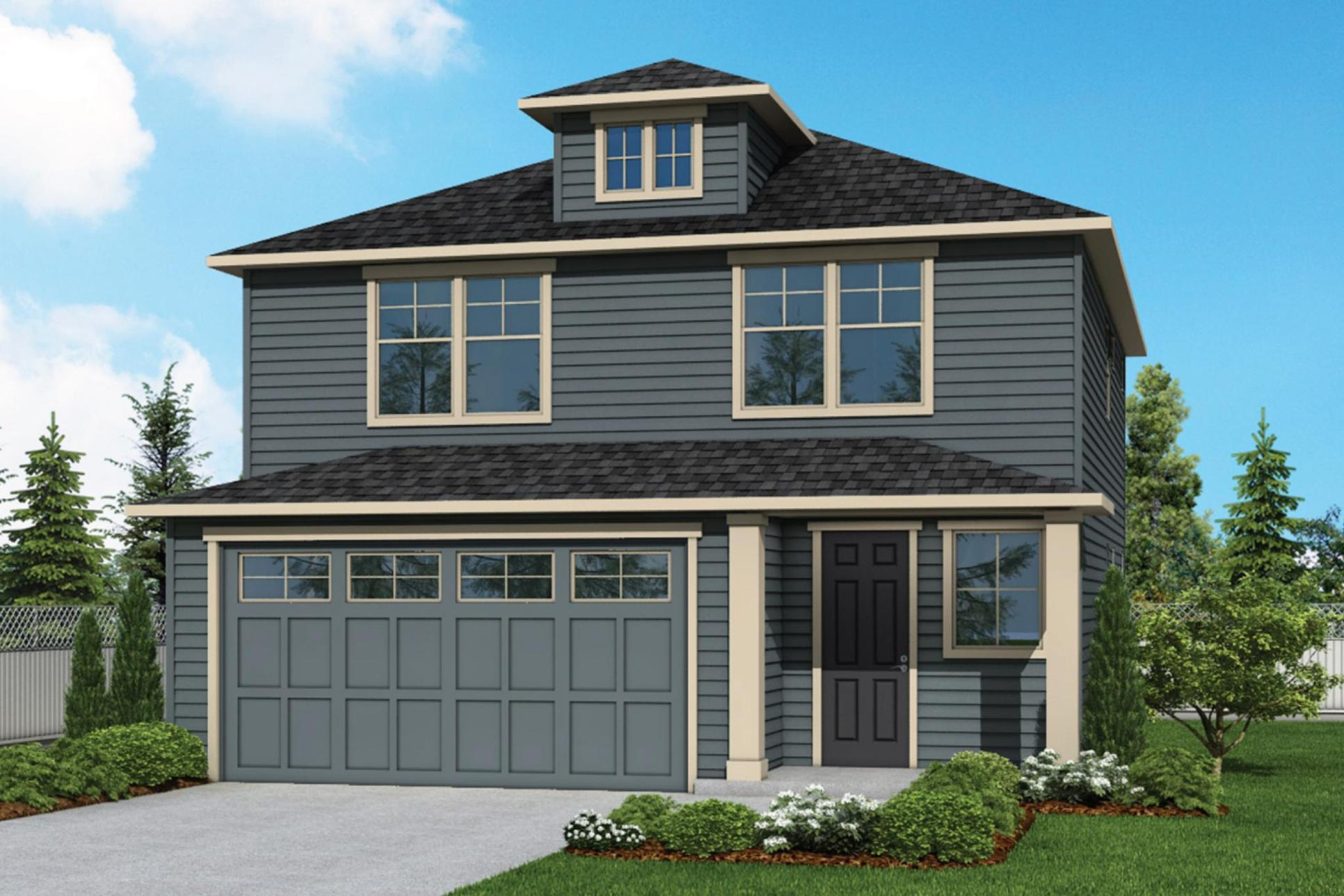 Plan 1867 Elevation 2 Rendering by Aho Construction:Plan 1867 Elevation 2