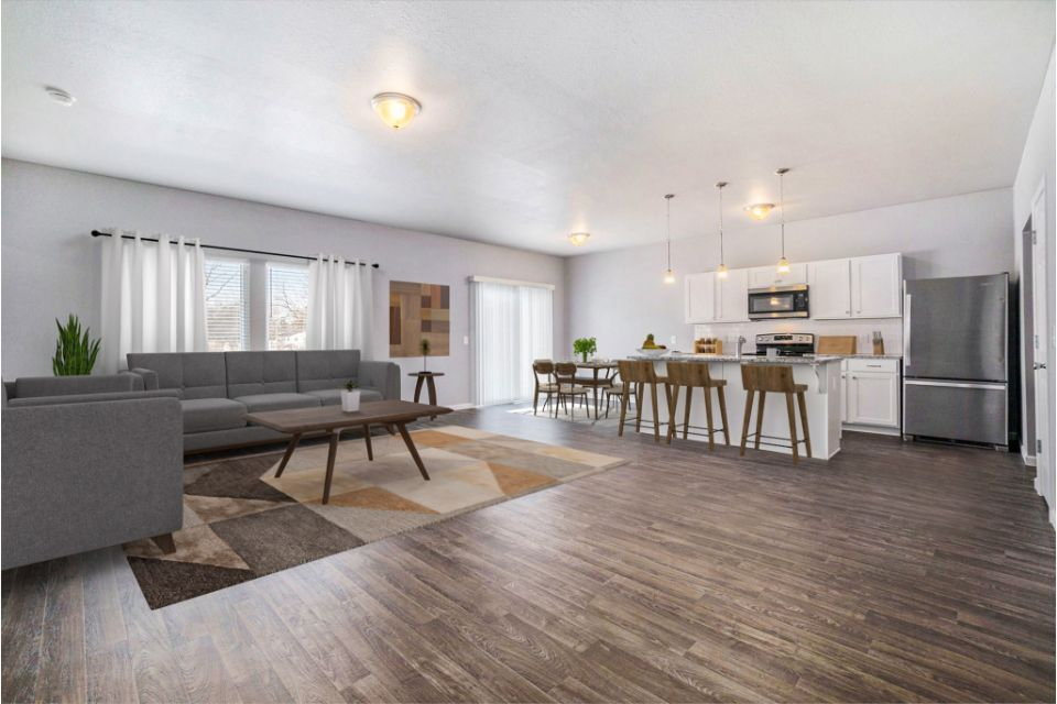 Great Room Virtual Staging