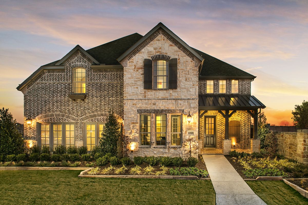 Prairie View Model Plan 1607 Front Elevation by American Legend Homes