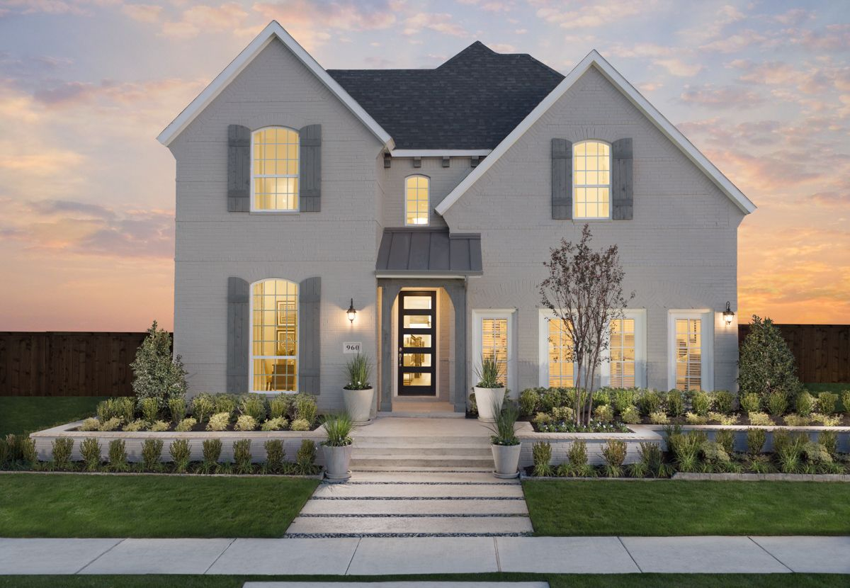 Star Trail 55s Model Plan 1167 Front Elevation by American Legend Homes