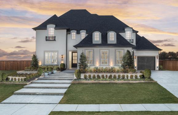 Parkside Model Plan 823 Front Side Elevation by American Legend Homes
