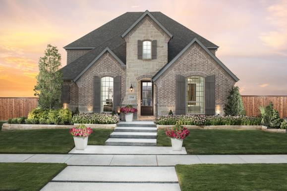 The Grove 55s Model Plan 1554 Front Elevation by American Legend Homes