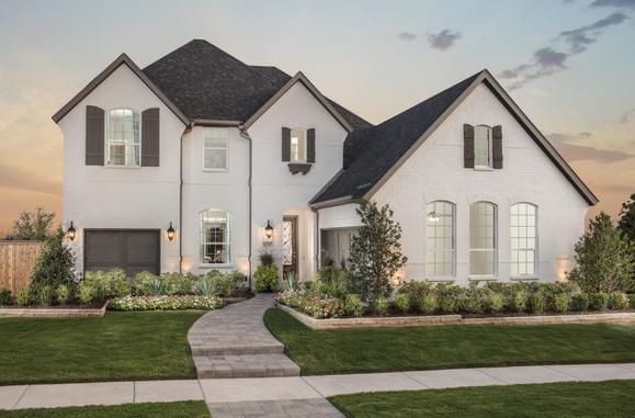 The Grove 65s Model Plan 694 Front Elevation by American Legend Homes