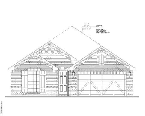 Exterior:Plan 1521 Elevation A