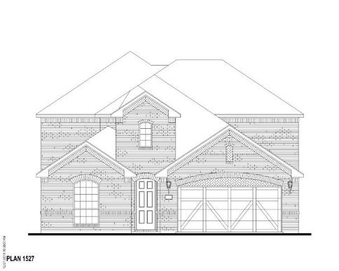 Exterior:Plan 1527 Elevation A
