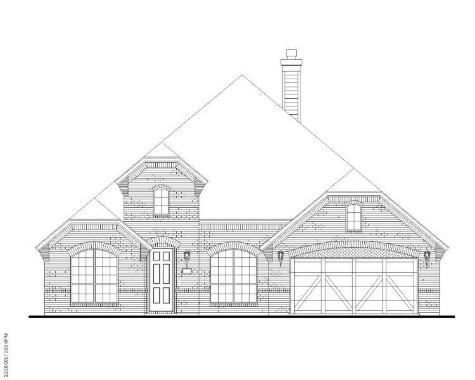 Exterior:Plan 1629 Elevation A