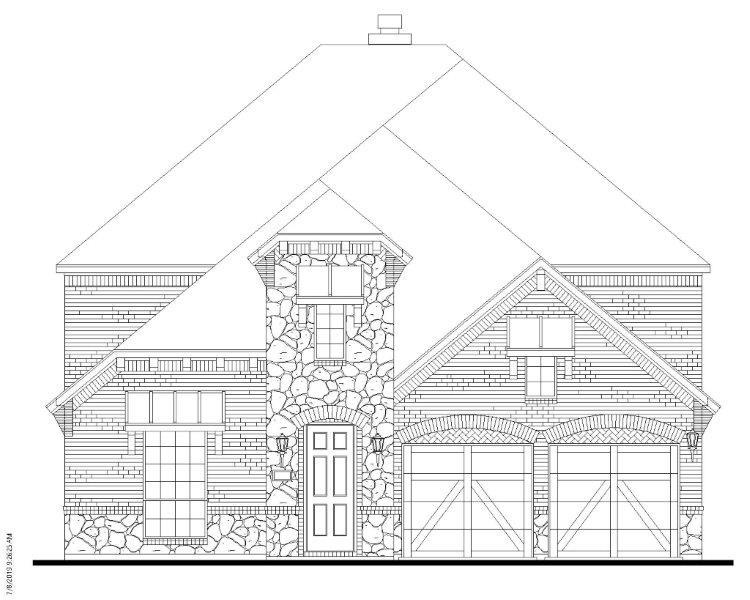 Exterior:Plan 1196 Elevation B