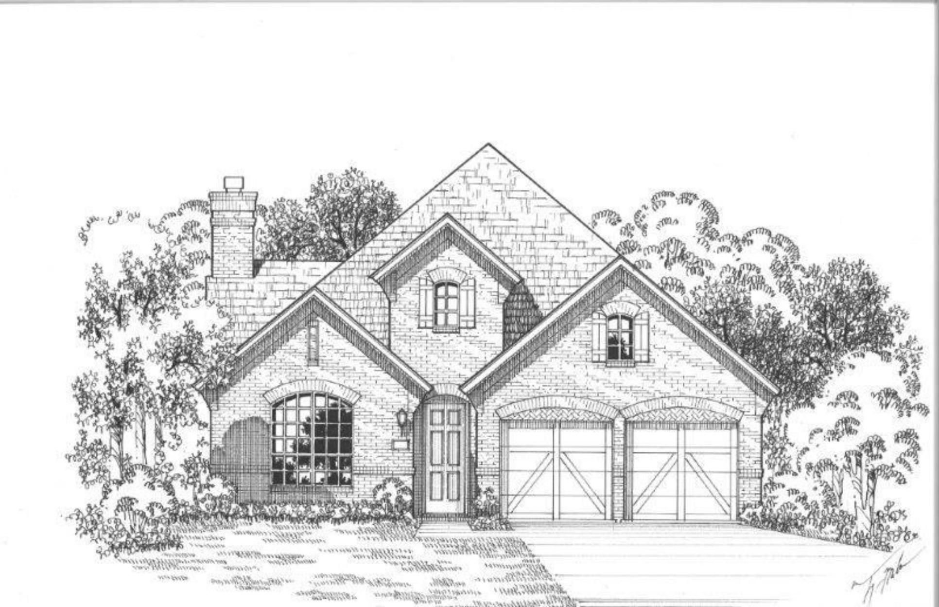 Exterior:Plan 1161 Elevation G