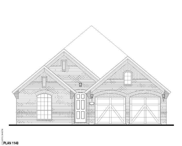 Exterior:Plan 1140 Elevation A