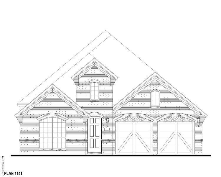 Exterior:Plan 1141 Elevation A