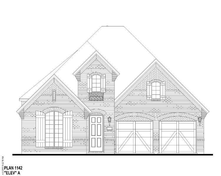 Exterior:Plan 1142 Elevation A