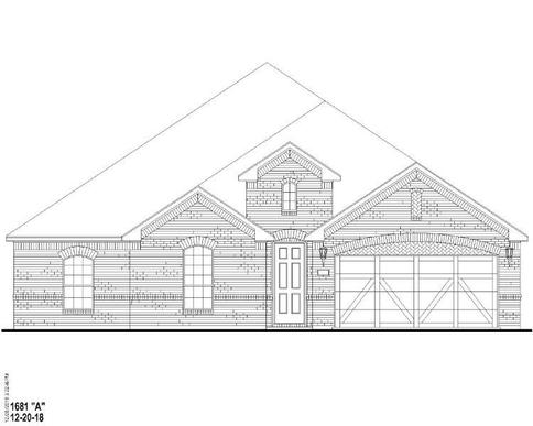 Exterior:Plan 1681 Elevation A