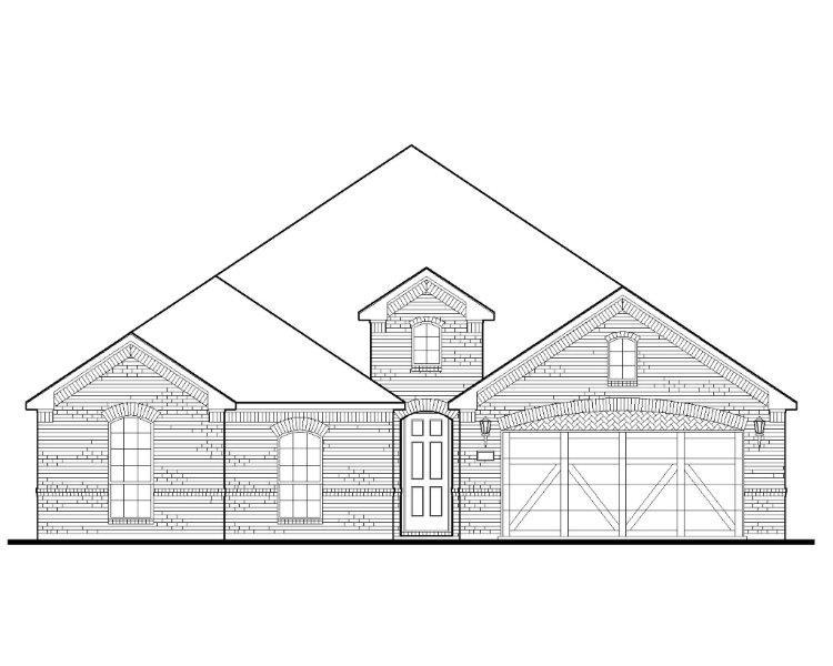 Exterior:Plan 1683 Elevation A