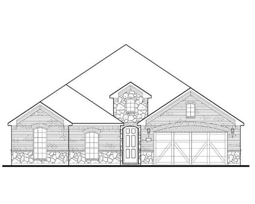 Exterior:1010 Daylilly Elevation A w/ Stone