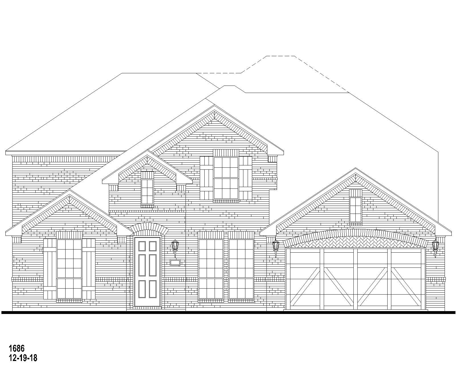 Exterior:Plan 1686 Elevation A