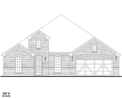 Exterior:Plan 1688 Elevation A