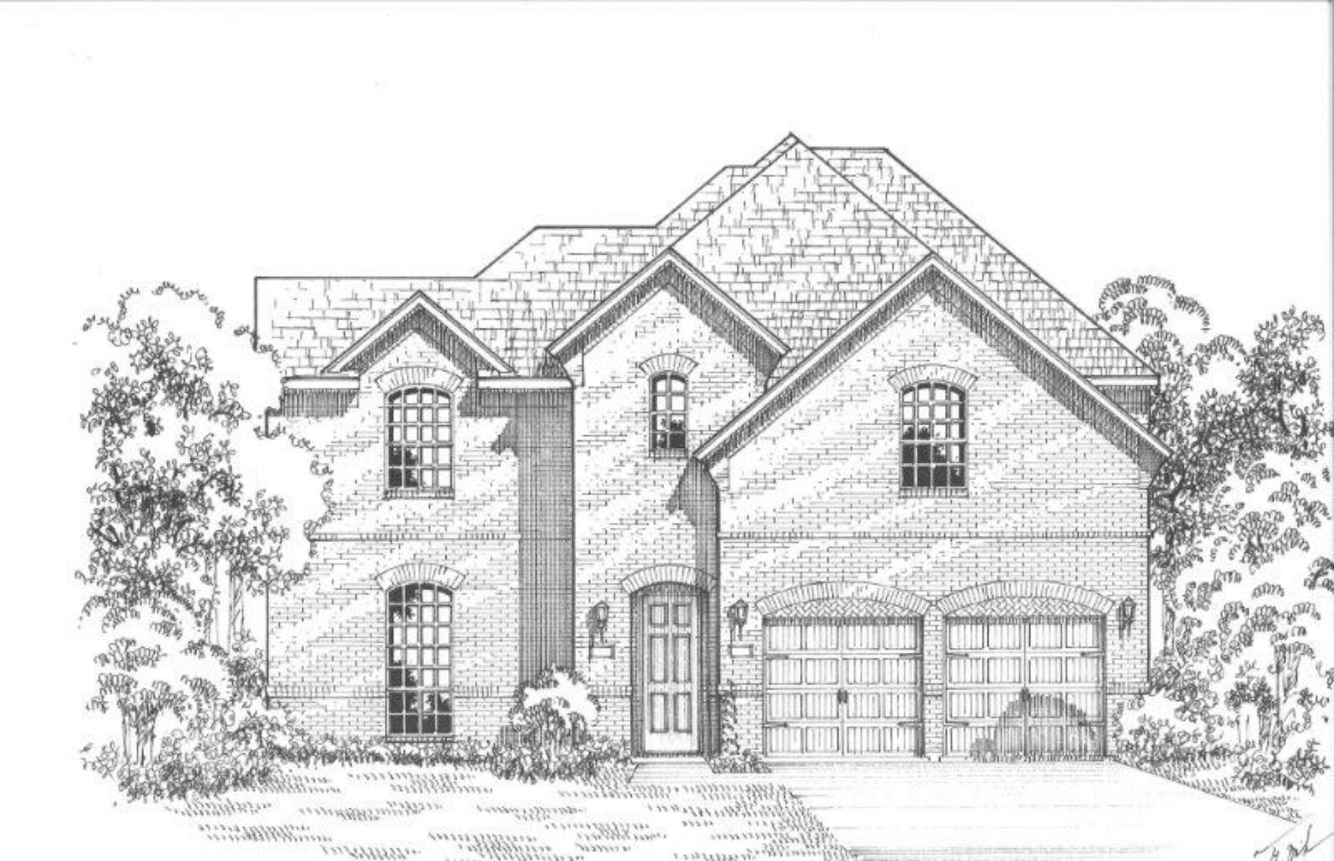 Exterior:Plan 1668 Elevation A