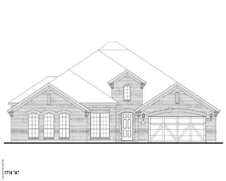 Exterior:Plan 1714 Elevation A