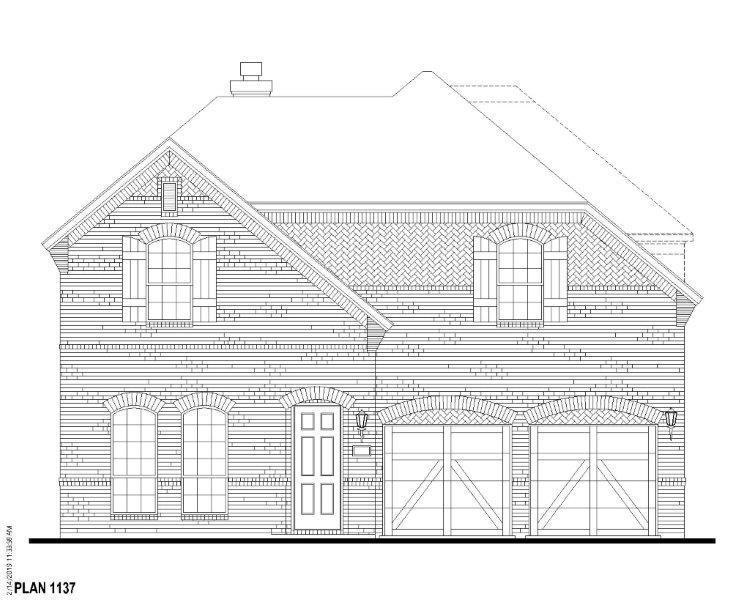 Exterior:Plan 1137 Elevation A