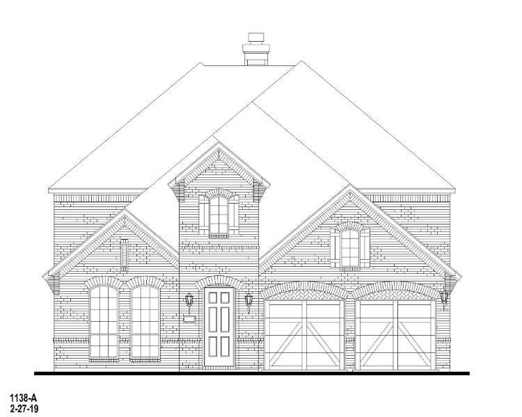 Exterior:Plan 1138 Elevation A