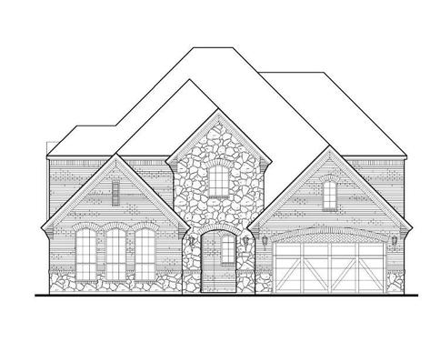 Exterior:1009 Dragon Banner Elevation A w/ Stone