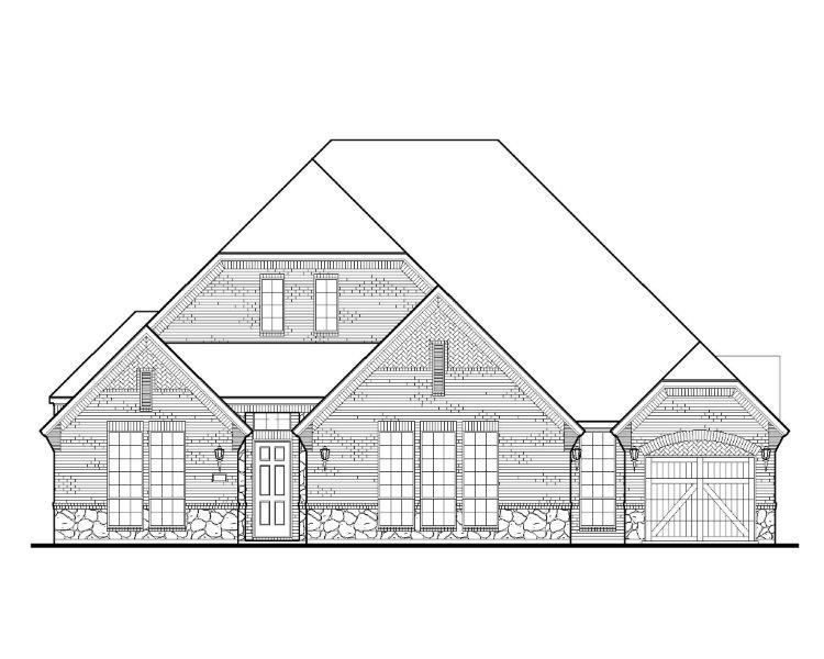 Exterior:2160 Country Brook Elevation A w/ Stone