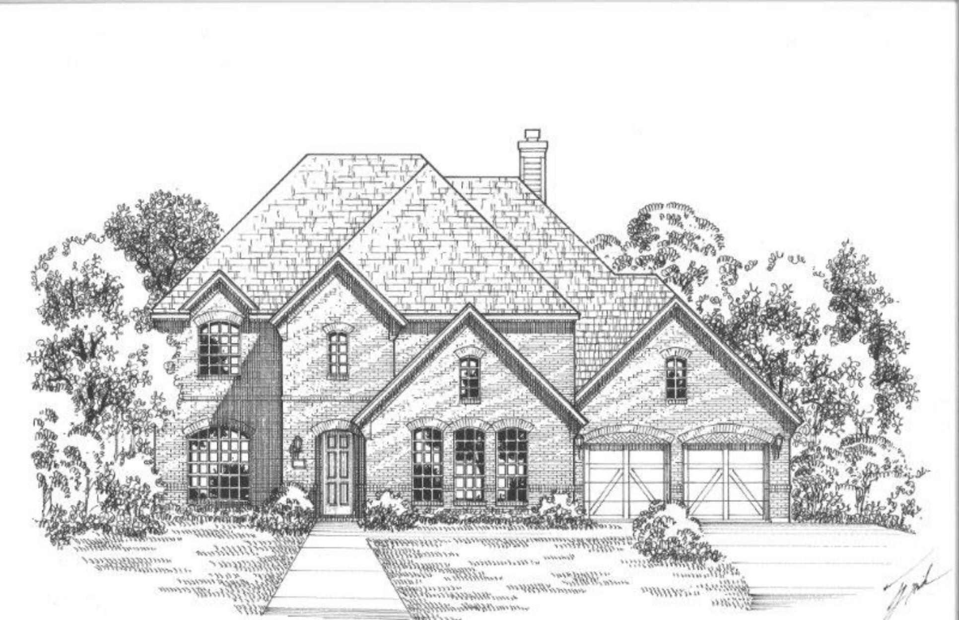 Exterior:Plan 1710 Elevation D