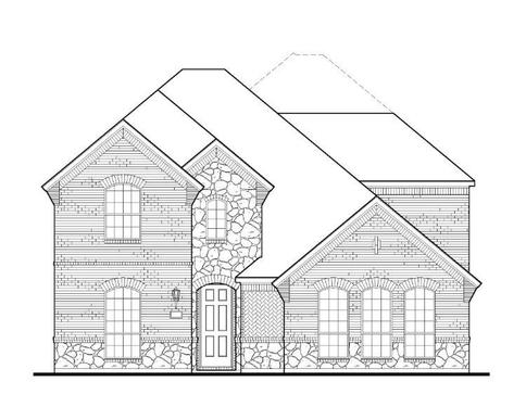 Exterior:12511 Lost Valley Elevation A w/ Stone