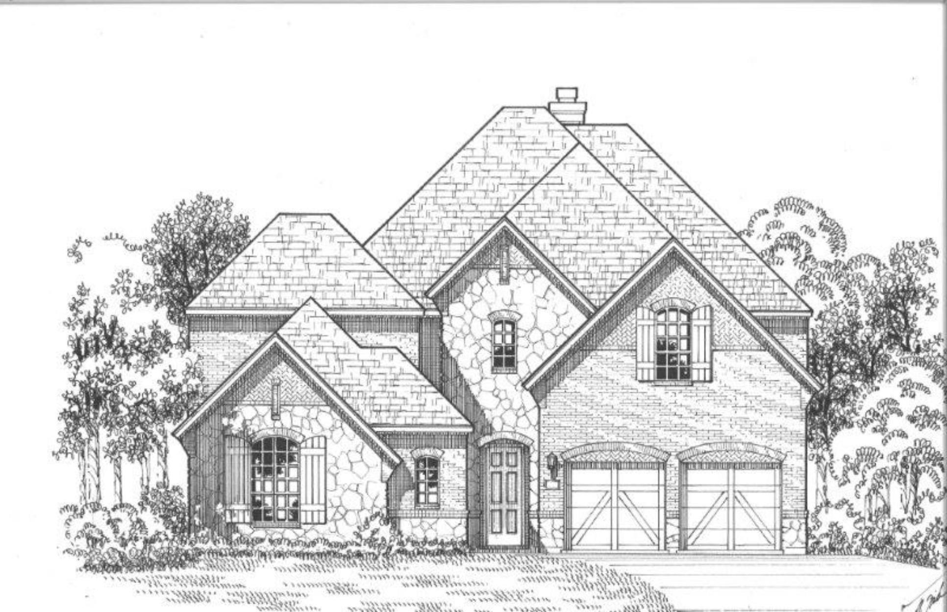 Exterior:Plan 609 Elevation Elevation D