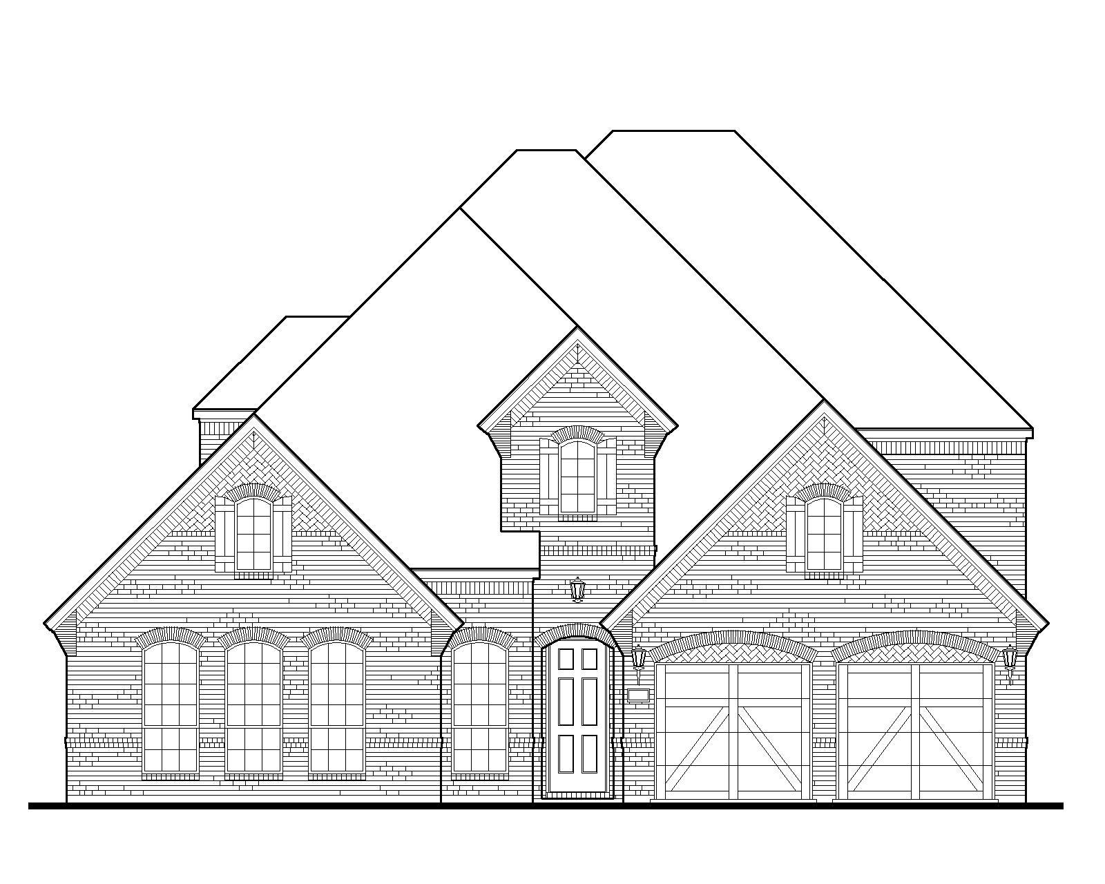 Exterior:Plan 1636 Elevation A