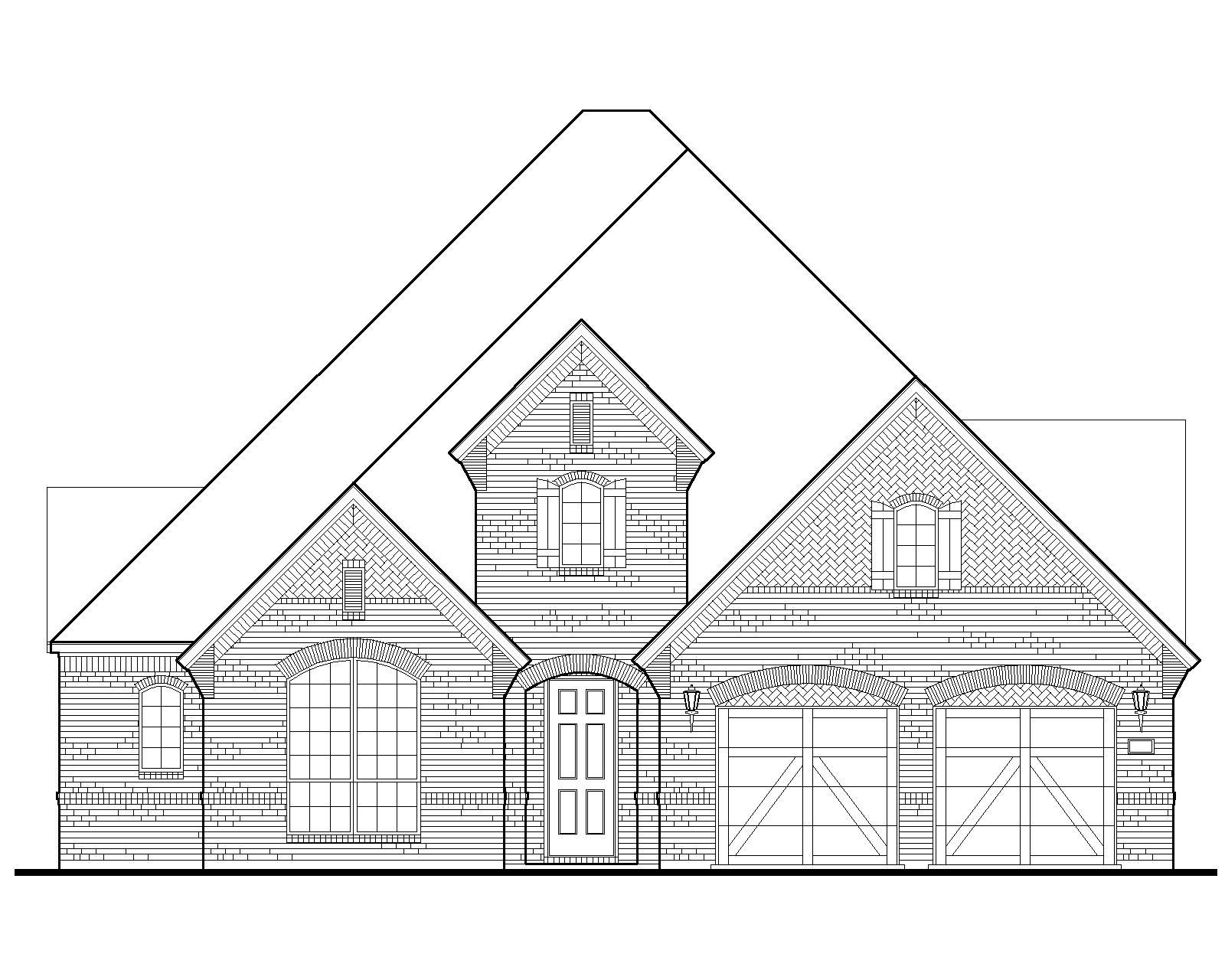 Exterior:Plan 1637 Elevation A