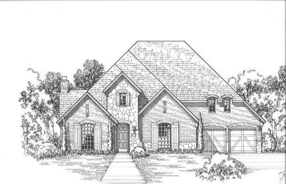 Exterior:2130 Longmont Elevation C w/ Stone