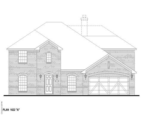 Exterior:Plan 1622 Elevation A