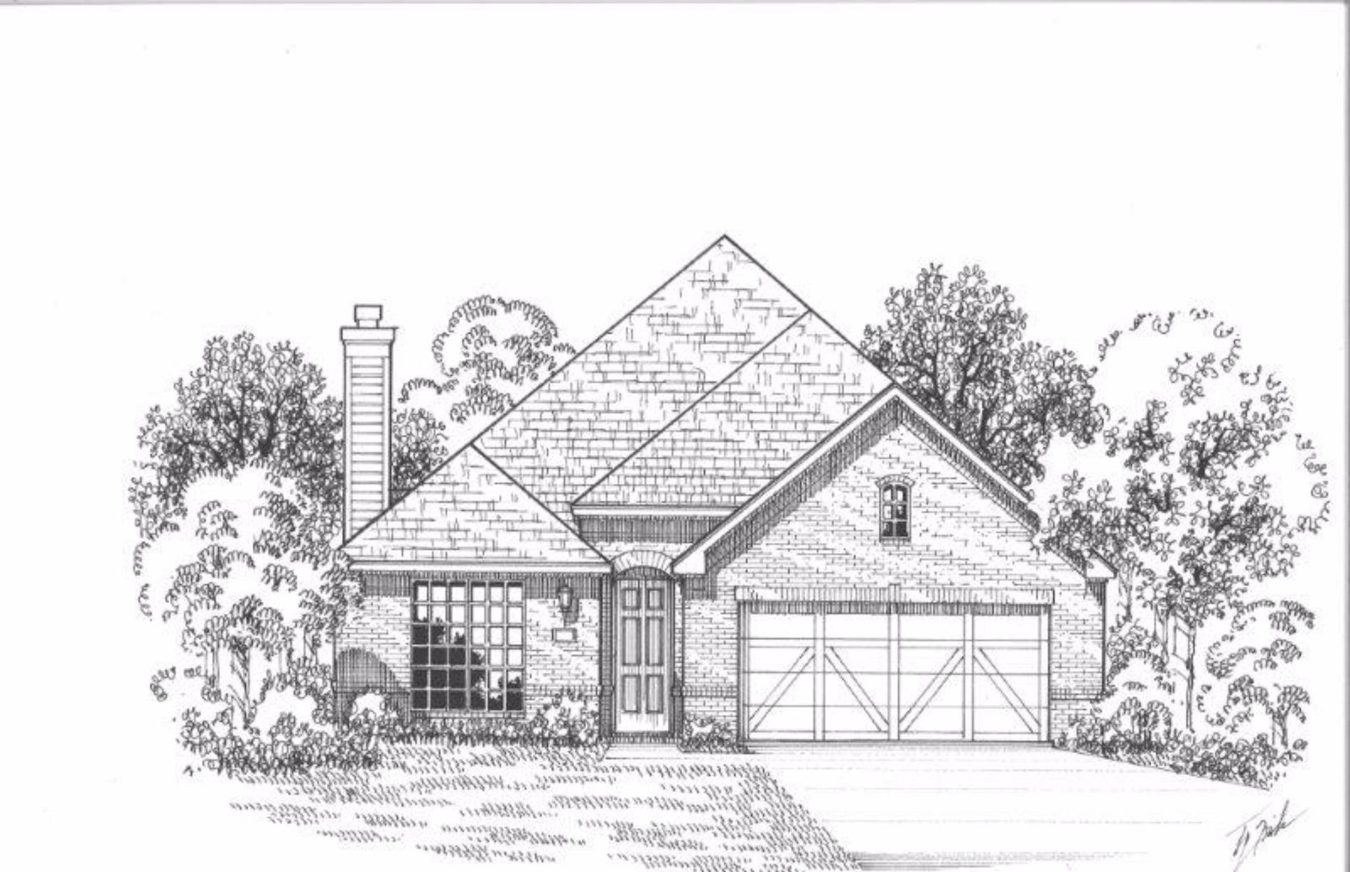 Exterior:Plan 1198 Elevation A