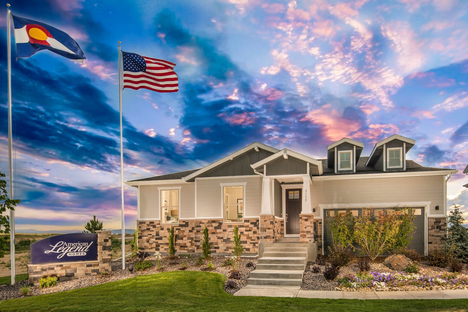 Plan C502 Front Elevation Photo by American Legend Homes