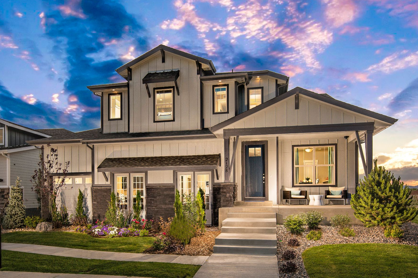 Plan C407 Front Elevation Photo by American Legend Homes