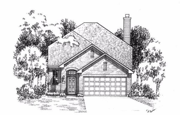 Exterior:Plan 1175 Elevation A