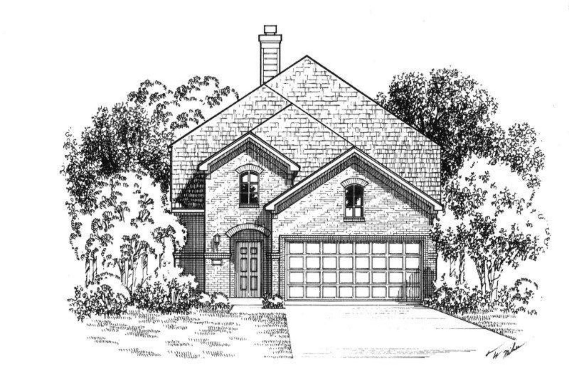 Exterior:Plan 1179 Elevation A