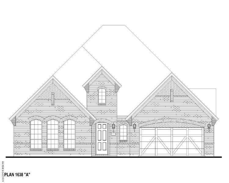 Exterior:Plan 1638 Elevation A