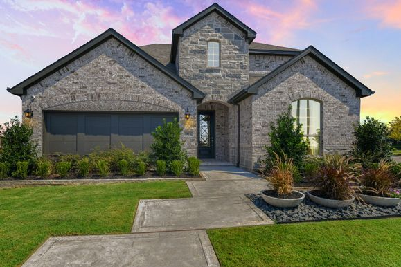 Light Farms Model Plan 1525 Elevation A Front Elevation by American Legend Homes