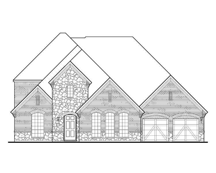 Exterior:2170 Longmont Elevation A w/ Stone