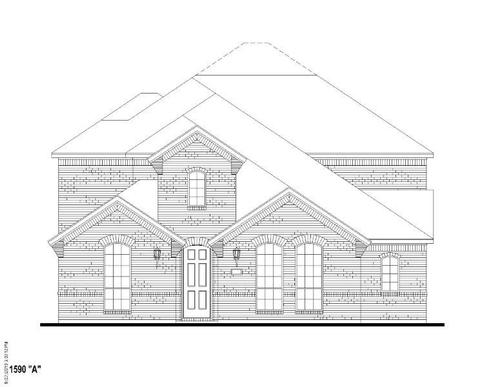 Exterior:Plan 1590 Elevation A