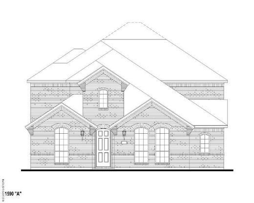 Exterior:Plan 1590 Elevation A