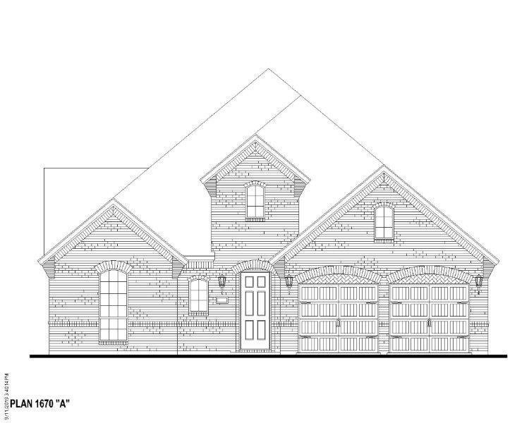 Exterior:Plan 1670 Elevation A