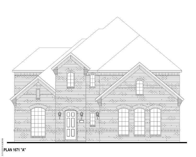 Exterior:Plan 1671 Elevation A