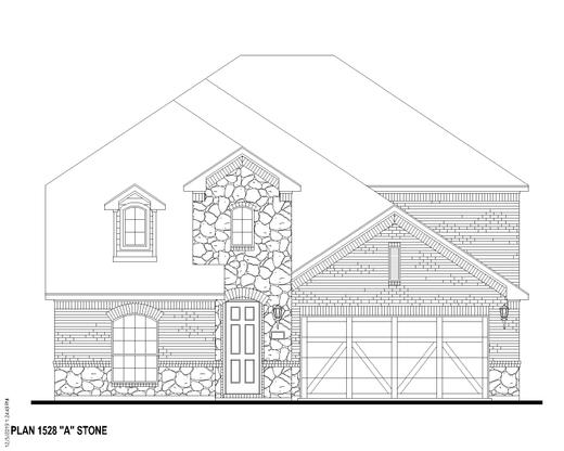 Exterior:1504 Monarch Elevation A w/ Stone