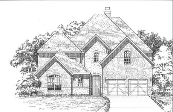 Exterior:1640 Sunset Elevation A w/ Stone