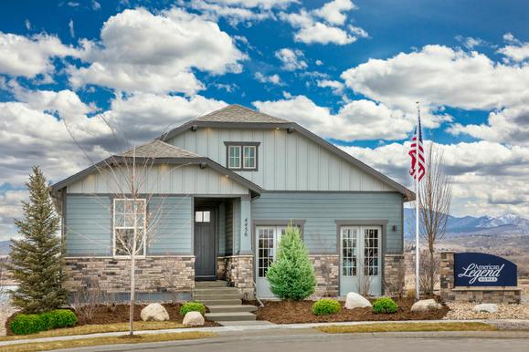 Plan C408 in The Enclave at Mariana Butte Front Elevation by American Legend Homes