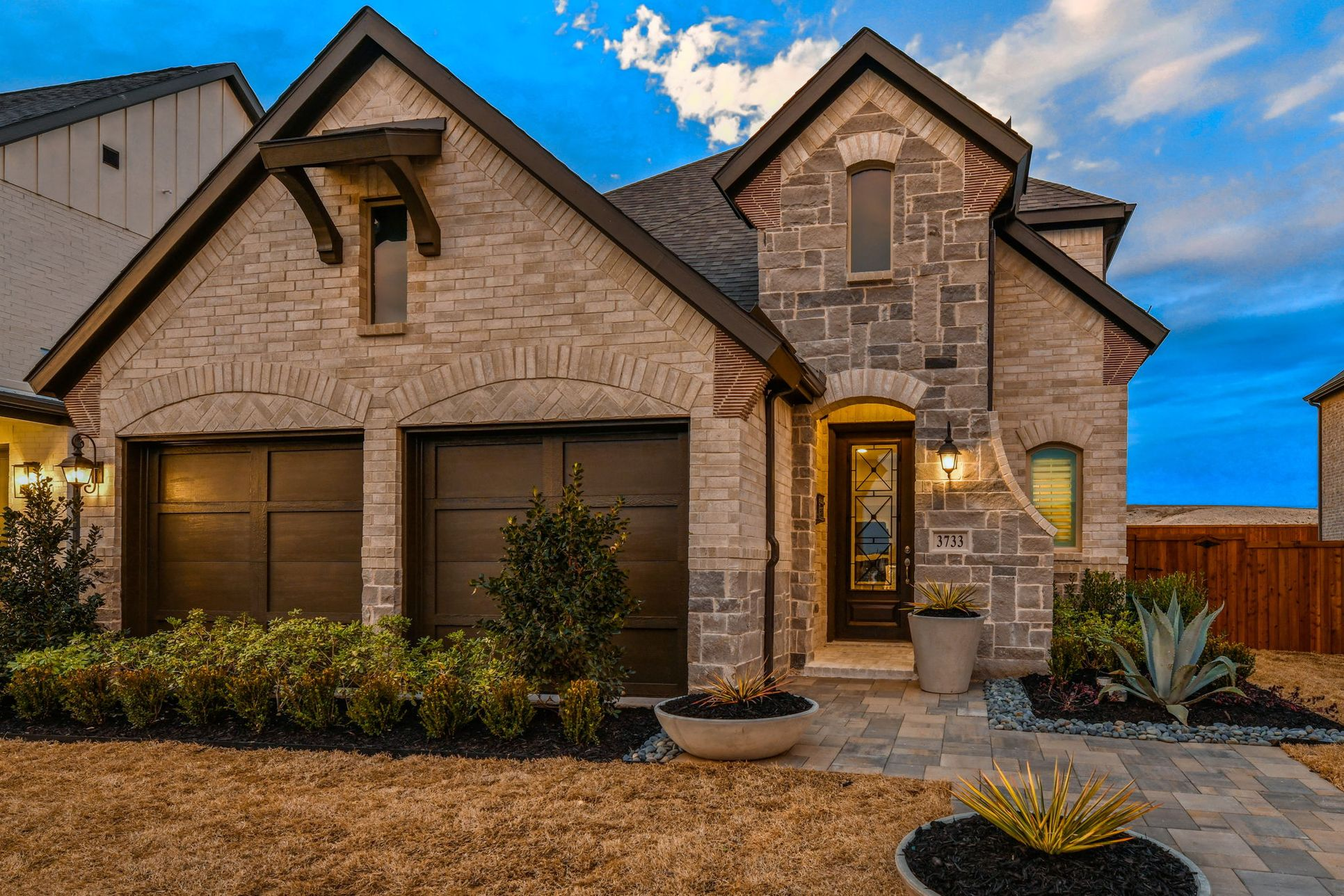 Plan 1189 Front Elevation Photo by American Legend Homes in Castle Hills Northpointe