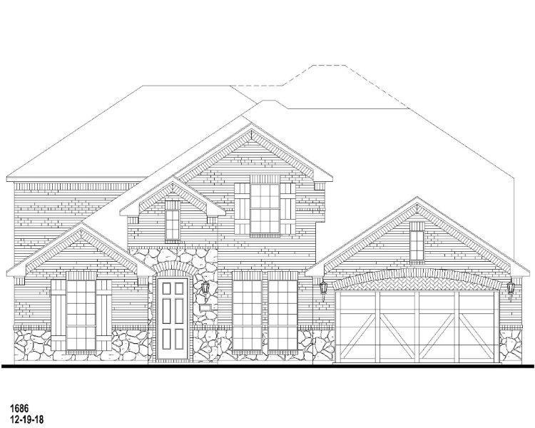 Exterior:1008 Cottonseed Elevation A w/ Stone